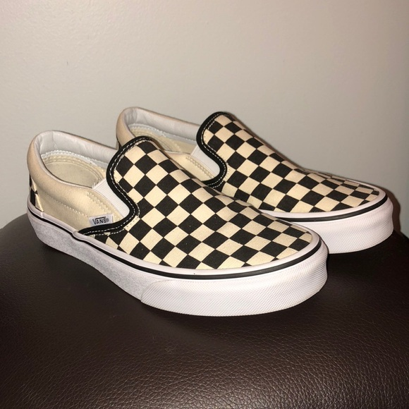 1f341e5f4e9 Vans Checkerboard Slip-On Black  Off White. M 5a60153685e60557206ec968